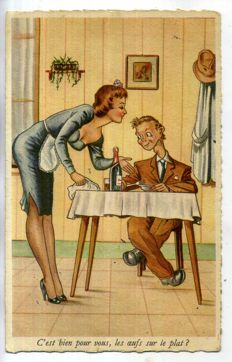Humour racy comic from 1900 onward; 63x