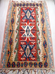 Tablecloth - Kilim, in hand-woven wool