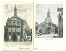Collection of postcards consisting of Dutch villages and towns 86 x