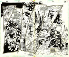 Anthony Williams - Original Art Plate - DC Comics - Fate #14 - Pages 16 & 17 - Double Splash - (1995)