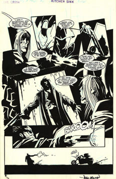 Dean Ormston - Original Art Plate - The Crow City of Angels #2 - Page 20 - signed - Kitchen Sink Press - (1996)
