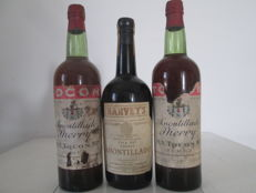 Two NV Amontillado Sherry Tocon's & One Amontillado Pale Dry Sherry Harvey's - 3 old bottles