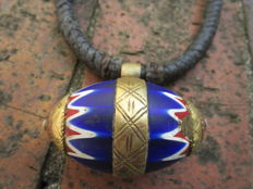 Very old and big chevron or rosetta bead of six layers and more than a century old