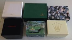 Lot of 6 boxes – Rolex – Omega – Chopard.