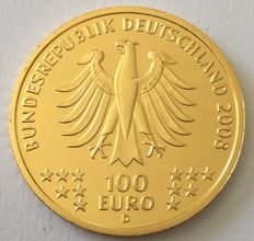 Germany – 100 Euro 2008 'UNESCO world heritage / Goslar' – ½ oz Gold