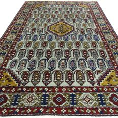Kazak - 200 x 133 cm - eye-catcher in baby blue - clean carpet in wonderful, virtually unused condition.