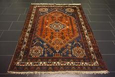 Semi-antique Persian carpet – Afshari – wool on wool – plant colours – 155 x 200 cm – made in Iran