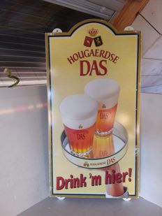 Large tin Hougaerdse Das advertising sign - Belgium - circa 1985..