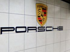 Porsche - Sign with coat of arms and PVC letters  - around 2000