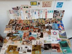 World - Collection of Maximum cards, Post Cards, Covers, F.D.C.'s  and Greek stamps in an album and in two sheets