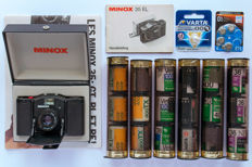 Minox 35 EL 1974 - the smallest 35 mm camera from the analogue era + manual - new batteries - ever-ready bag and films