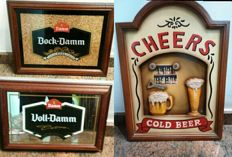 Lot of 3 beautiful beer signs