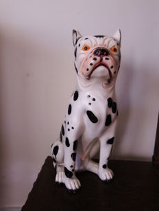 Beautiful french bulldogs in ceramic, from the decade of 1980, Portugal
