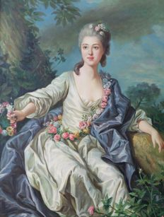 French school (20th c.) after Van Loo - Portrait
