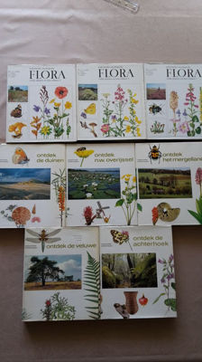 Lot with two sets about Dutch landscapes and ecology (flora) - 8 volumes - 1976/1980