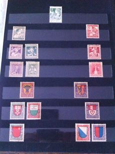 Switzerland 1910-1970 - Stamp collection.