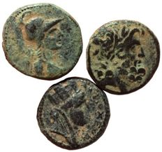 Roman Provincial - Syria, Seleucis and Pieria - Lot of three (3) Æ Trichalkon - Apameia and Antiocheia ad Orontem, Caesarian Era - RPC 4338 / RPC 4269 / RPC 4290