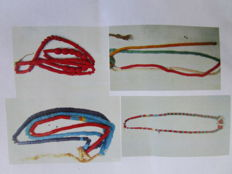 Lot of four old necklaces of pearls treaty of DOGON - Mali
