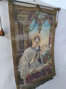 Banner of Saint Louis Gonzaga, early 20th century