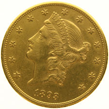 United States – 20 Dollars 1875, Liberty Head – gold
