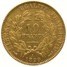 France – 10 Francs 1899A 'Ceres' – gold