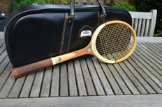 Vintage Slazenger Large Racket Sports Bag including Challenge No.1 Tennis Racquet
