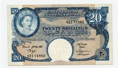 East Africa - East African Currencyboard - 20 shillings (1961) - Pick 43a