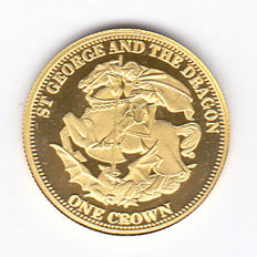 Tristan da Cunha – 1 Crown 2009 'St. George and the Dragon' – 1/25oz Gold