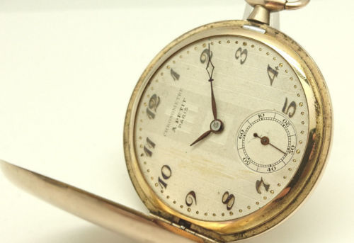 Vintage pocket watch from collection A Petit Paris gold-plated Temeraine Geneve
