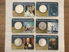 The Netherlands - 5 Euro 2004/2007 (5 pieces) + 10 Euro 2005 in Coin cards