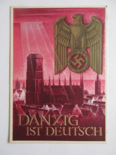 German Reich, 1927-1945 – collection of 127 different pieces of postal stationary and propaganda cards in Safe binder