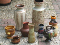 Lot with West Germany ceramic and others Ten pieces
