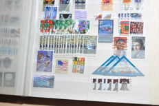 USA – Batch with thousands of stamps from classic