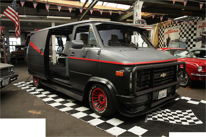 rare 1978 chevrolet g20 chevy 305 cui fourgon s rie tv agence tous risques a team gpl. Black Bedroom Furniture Sets. Home Design Ideas