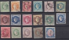 Spain 1860/1867 – Isabel II Lot with classic stamps.