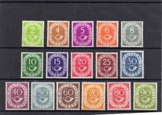 Bundespost 1951 - Posthorn series,  Michel 123/138