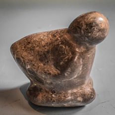 Neolithic Mother Goddess of Polished Stone - 7 cm X 7 cm
