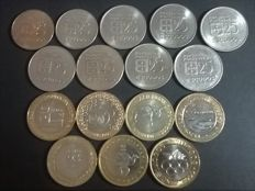 Portugal – 2 collections of coins – Collection of copper-nickel 25 Escudo coins and complete collection of bi-metallic 200 Escudo commemorative coins – 1977 to 1986 and 1994 to 2000 – 16 coins – Portuguese Republic – Lisbon