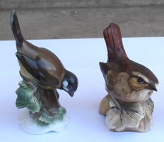 Lot of 2 porcelain birds : 1  Rosenthal H MEISEL, 1 Tay, Italy