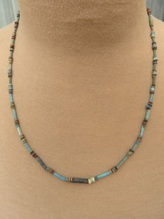Egyptian necklace with faience beads - 62 cm