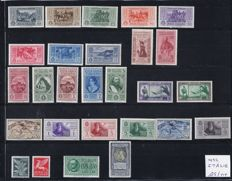 Italy 1932 & 1935, composition of stamps, Michel Numbers 385/434 & numbers 520/542.