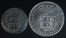 "Portugal – 2 Coins – 3 Vinténs ""J"" from the reign of D. José I (1705-1777) and 6 Vinténs from the reign of D. João VI (1799-1816) – Lisbon"
