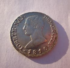 Spain - Jose Napoleon.  King of Spain (1808 - 1814) - 4 silver reales - Madrid mint - year 1810 - assayer: A-I.