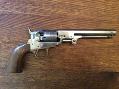 Colt 1849 Pocket Revolver with Ranger and Indian Cylinder scene