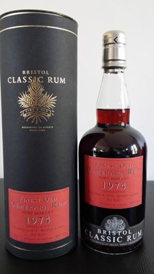 Very old rum Port Morant Vintage 1974 - 30 years old