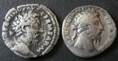 Roman Empire – two AR denarii of Marcus Aurelius (161-180 A.D.), Rome.