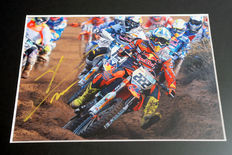 Professionally framed image, personally signed by Tony Cairoli