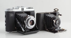 Zeiss Ikon Nettar with 1: 4.5 / 75mm Novar lens and Ernemann with 1: 6.8/80 mm Detective lens
