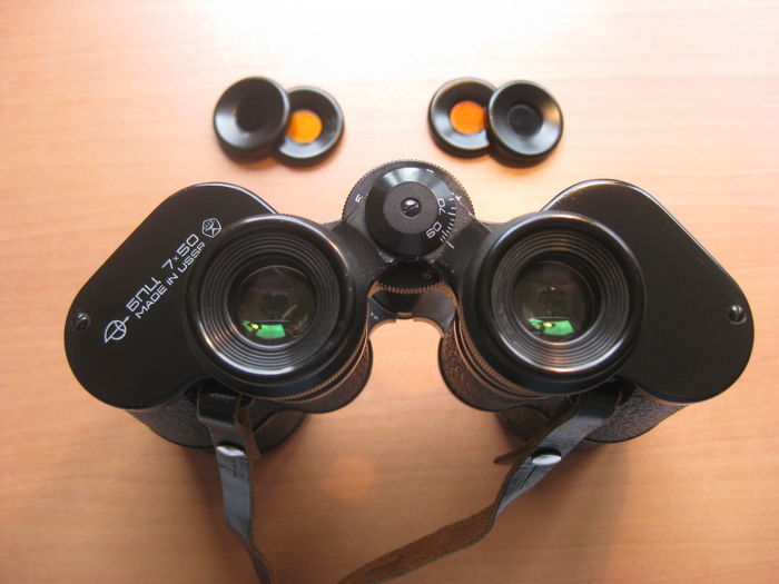 A fine Russian binoculars BNU 7 x 50 from the former USSR.