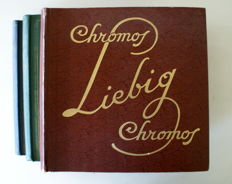 Liebig - Flemish - 3 albums with a total of 150 complete series - 1934/62